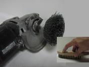 Trennschleifer, Topfbürste oder Handbürste